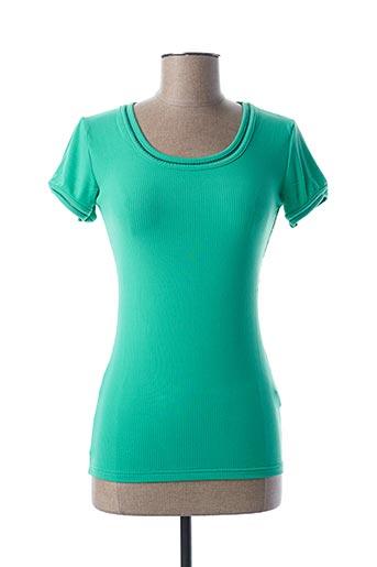 T-shirt manches courtes vert TEENFLO pour femme
