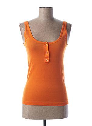 Débardeur orange STEFAN GREEN pour femme