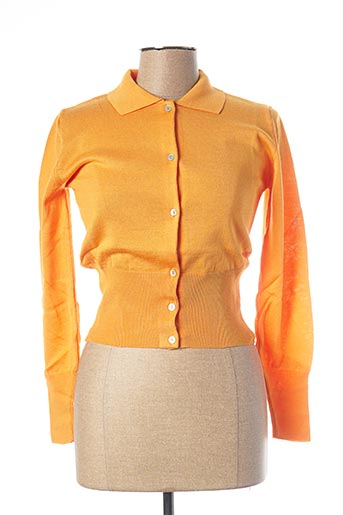 Gilet manches longues orange TEENFLO pour femme