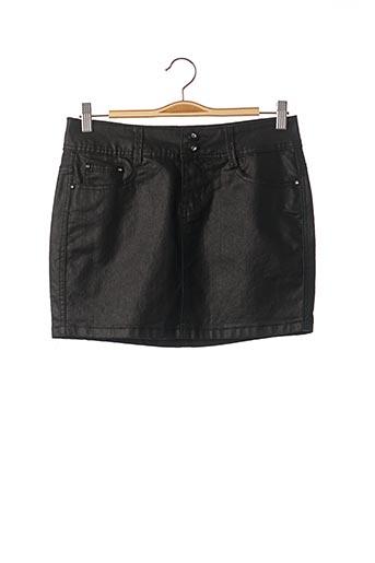 Jupe courte noir BS JEANS pour femme