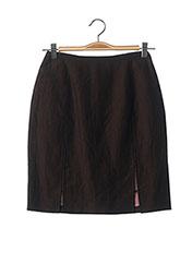 Jupe mi-longue marron TEENFLO pour femme seconde vue
