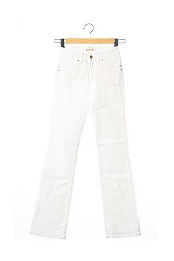Jeans bootcut blanc TEENFLO pour femme