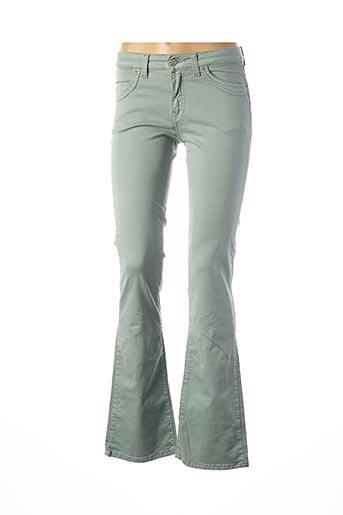 Jeans bootcut vert TEENFLO pour femme