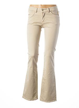 Jeans bootcut beige TEENFLO pour femme