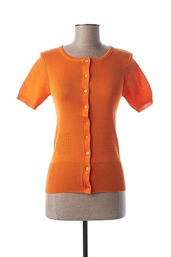 Gilet sans manche orange STEFAN GREEN pour femme
