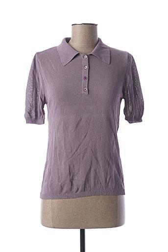 Polo manches courtes violet STEFAN GREEN pour femme