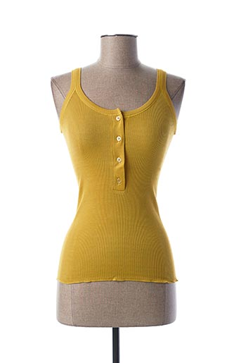 Top jaune STEFAN GREEN pour femme