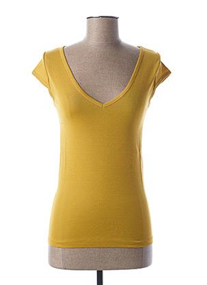 T-shirt manches courtes jaune STEFAN GREEN pour femme
