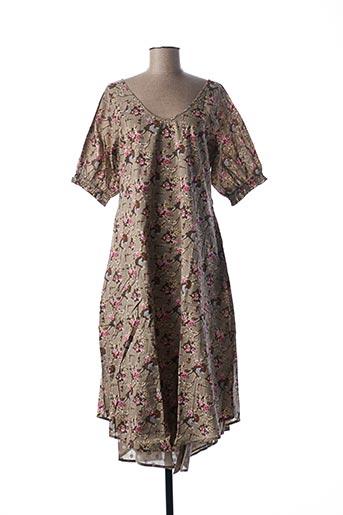 Robe longue gris RHUM RAISIN pour femme
