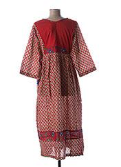 Robe longue rouge RHUM RAISIN pour femme seconde vue