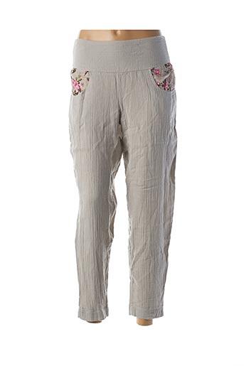 Pantalon casual gris RHUM RAISIN pour femme