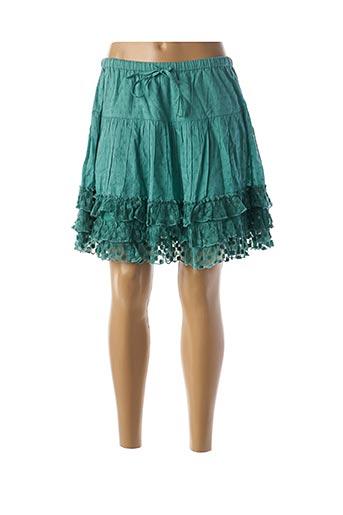 Jupe courte vert RHUM RAISIN pour femme