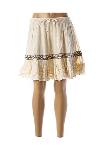 Jupe mi-longue beige RHUM RAISIN pour femme