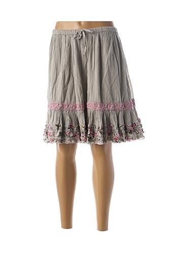 Jupe mi-longue gris RHUM RAISIN pour femme