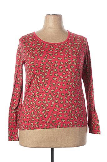 T-shirt manches longues rose BLANCHEPORTE pour femme
