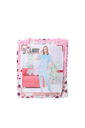 Pyjama rouge DIVAMORE pour femme