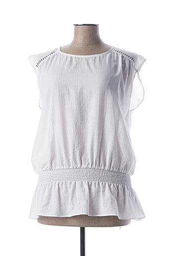 Blouse manches courtes blanc FLEUR DE SEL pour femme