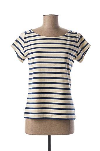 T-shirt manches courtes bleu DEAUVILLE pour femme