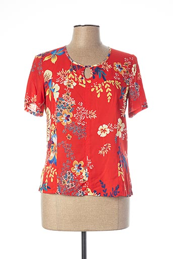 Blouse manches courtes rouge WEINBERG pour femme