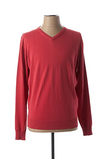 Pull col V rose CASUAL SPIRIT pour homme