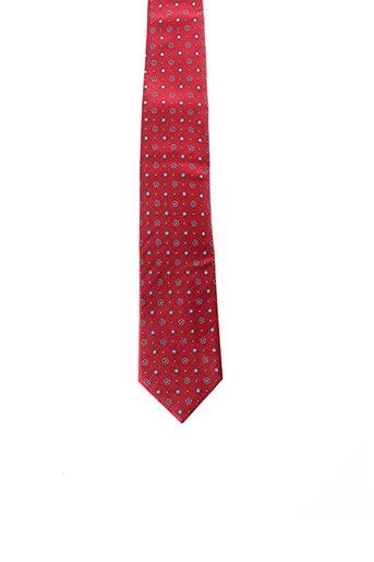 Cravate rouge JEAN CHATEL pour homme