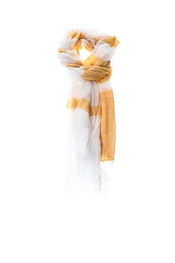 Foulard jaune E.SAVALL pour femme
