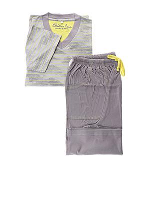 Pyjashort gris CHRISTIAN CANE pour homme