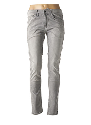 Jeans skinny gris PEPE JEANS pour fille