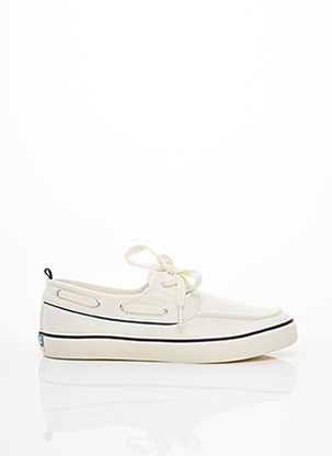 Chaussures bâteau blanc PEPE JEANS pour homme