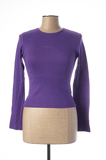 T-shirt manches longues violet SCHOOL RAG pour femme