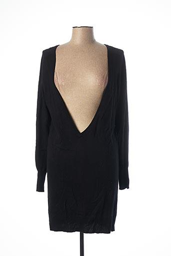 Robe mi-longue noir BABY SHIRT pour femme