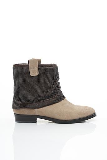 Bottines/Boots beige DONNA MODELLO pour femme