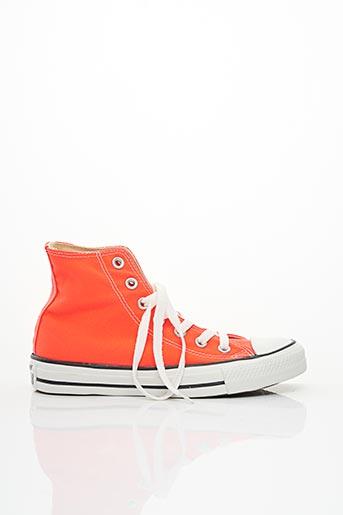 Baskets orange CONVERSE pour fille