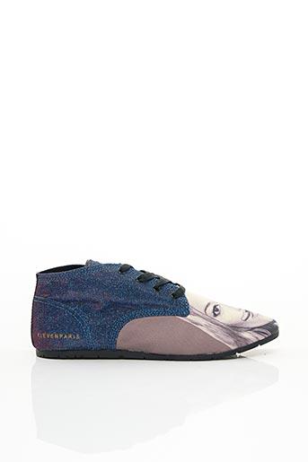 Baskets bleu ELEVEN PARIS pour femme
