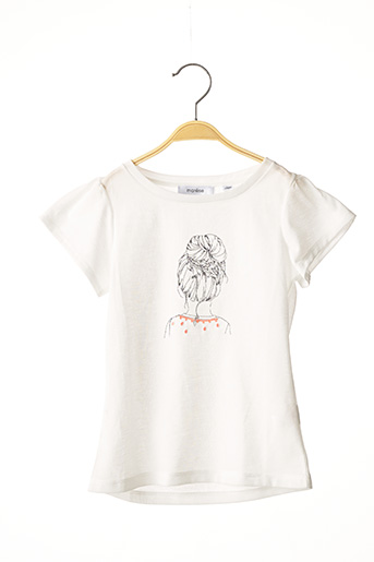 T-shirt manches courtes blanc MARESE pour fille