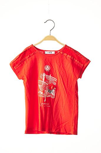 T-shirt manches courtes rouge MARESE pour fille
