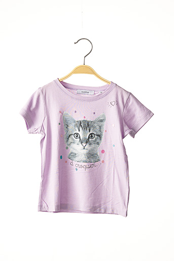 T-shirt manches courtes violet MARESE pour fille