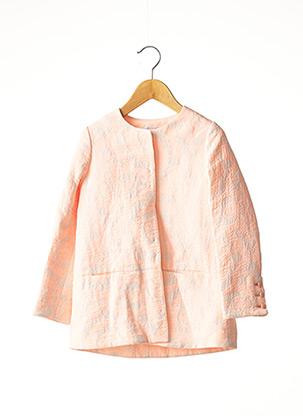 Manteau long rose MARESE pour fille
