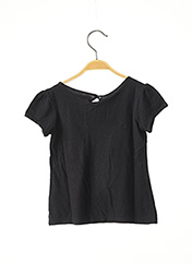 T-shirt manches courtes noir MARESE pour fille seconde vue