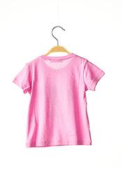 T-shirt manches courtes rose MARESE pour fille seconde vue