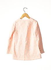 Manteau long rose MARESE pour fille seconde vue