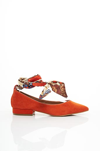 Ballerines orange KARSTON pour femme