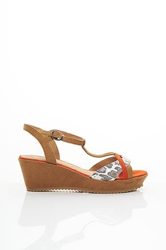 Sandales/Nu pieds orange KARSTON pour femme