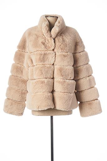 Manteau court beige ESTHEME pour femme
