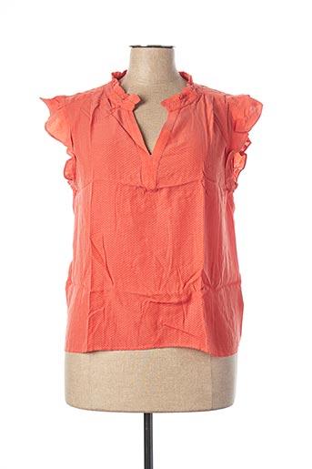 Blouse manches courtes orange BRUNO SAINT HILAIRE pour femme