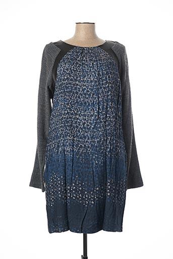 Robe courte bleu ANDAMIO pour femme