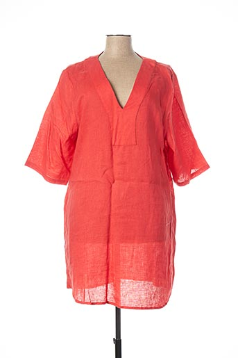 Robe courte orange DRESS ADDICT pour femme