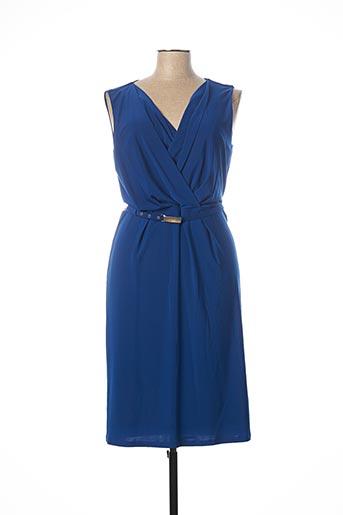 Robe mi-longue bleu ANDAMIO pour femme