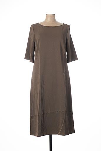 Robe mi-longue gris MARELLA pour femme
