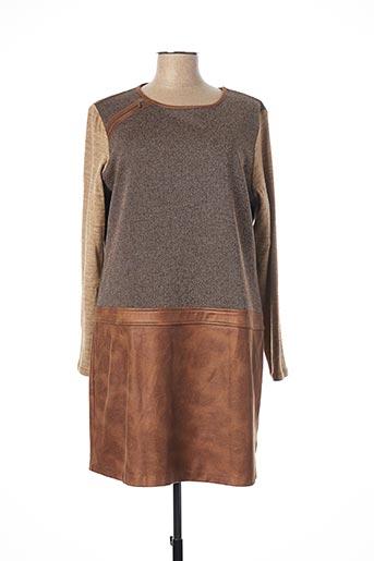 Robe mi-longue marron ANDAMIO pour femme